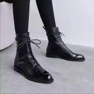 RESTOCKED Milano Black Leather Lace Up Brogue Boot